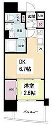 セレニテ谷九プリエ 7階1DKの間取り