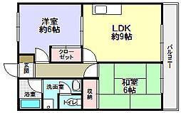 グラスガーデン2[2階]の間取り