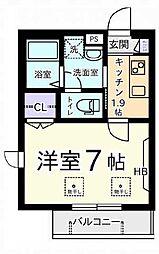 ラフィネSHOUEI[1階]の間取り