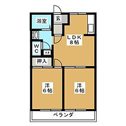 ソニアエクセルA[2階]の間取り
