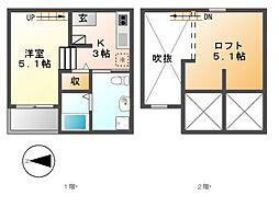 M.Kオリオン名古屋[2階]の間取り