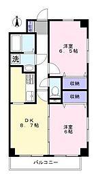 三高・ツインタワー・サウス[8階]の間取り