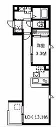 神奈川県横須賀市久里浜4丁目の賃貸マンションの間取り