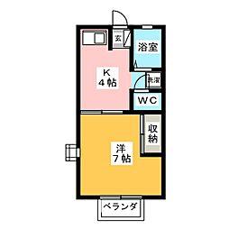 ハイツ蔵前 A[2階]の間取り