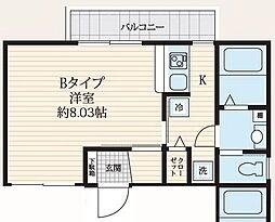 SIMODA新宿上落合 3階1Kの間取り