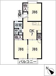 セジュール早川[1階]の間取り