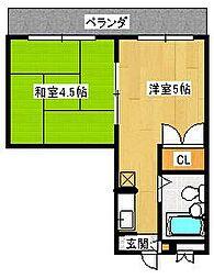 パープルマンション3号館[2階]の間取り