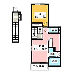 ステラ吉原[2階]の間取り