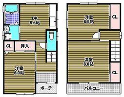 [一戸建] 大阪府和泉市伏屋町4丁目 の賃貸【/】の間取り