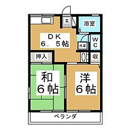 シティハイムファミールHASEKURA[2階]の間取り