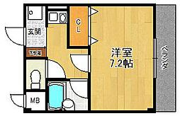 ハイツフルブルーム2[3階]の間取り