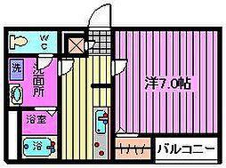 リブリ・ドエルKizawa[2階]の間取り