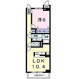 ルーナ II 1階1LDKの間取り