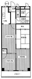 パークハイツ桜坂[6階]の間取り