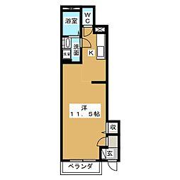 セイト城崎 B[1階]の間取り