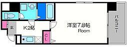 サンロイヤル都島[6階]の間取り
