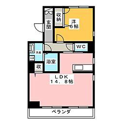 シャーメゾン宮千代パーク[1階]の間取り