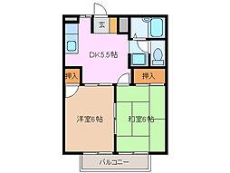 フォレストハイツ鈴木[2階]の間取り