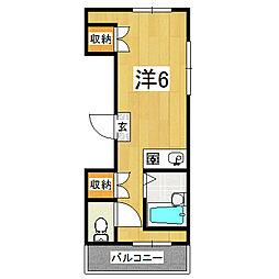 ラカサカンタール[2階]の間取り