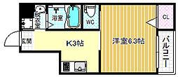 コンフォートテラステンマ[4階]の間取り