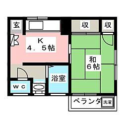 オークハウス[2階]の間取り
