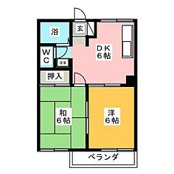 サウスパーク[2階]の間取り