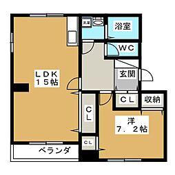 マンション鳳舞[3階]の間取り
