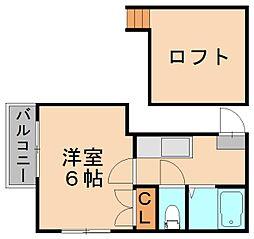 エミリーコート博多[2階]の間取り