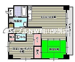 木屋ビル[7階]の間取り
