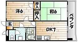 ライオンズマンション皇后崎公園[3階]の間取り