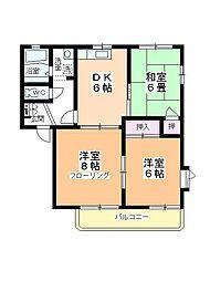 サングレース平田[A201号室]の間取り