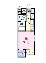エムアイトキワ[1階]の間取り