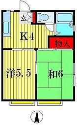 ティーフラワー3号館[1階]の間取り