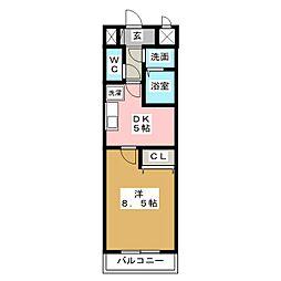 ウェークフォレストブロンド[2階]の間取り
