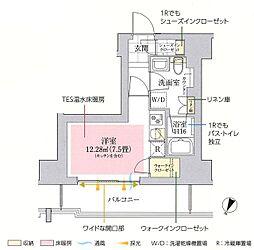 東京メトロ丸ノ内線 御茶ノ水駅 徒歩10分の賃貸マンション 6階ワンルームの間取り
