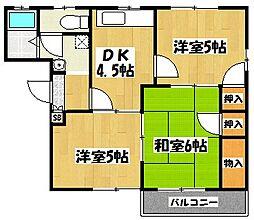 ライフインビレッジ3[2階]の間取り