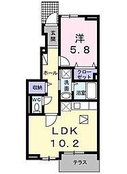 コリーヌレジデンス[1階]の間取り