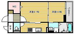 大阪府茨木市南耳原2丁目の賃貸マンションの間取り