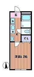 メゾンドエクレール[3階]の間取り