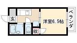 愛知県名古屋市天白区植田本町2丁目の賃貸アパートの間取り