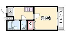 JR加古川線 社町駅 バス18分 依藤野下車 徒歩4分の賃貸マンション 3階1Kの間取り