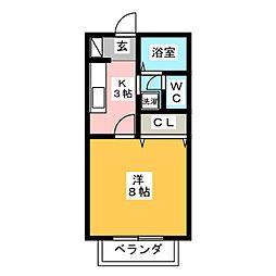 プレステージKE I[2階]の間取り