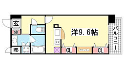 KAISEI新神戸第2WEST[4階]の間取り