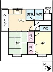 マンション里生ビル[3階]の間取り