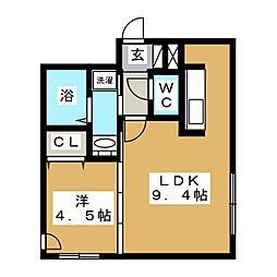 グランパーク札幌北[2階]の間取り