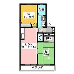 トルナーレ内野[2階]の間取り