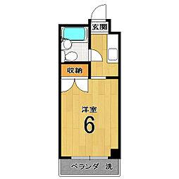 伏見上野ハイツ[402号室]の間取り