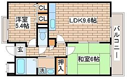 兵庫県神戸市長田区海運町2丁目の賃貸マンションの間取り