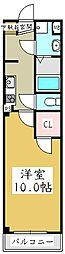 アンプルールフェールYAHAGI II[3階]の間取り