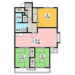サンエクセル緑ヶ丘[2階]の間取り